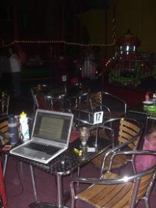 My writing space at Lollypops